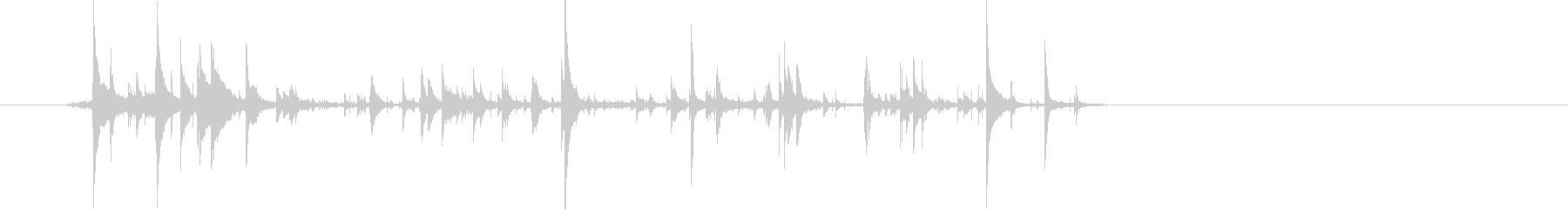 じゃりじゃり…チャリーン!鈴の音の未再生の波形