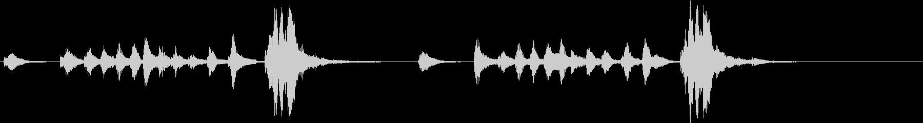 トムとジェリー風なアニメ音楽「忍び足」5の未再生の波形