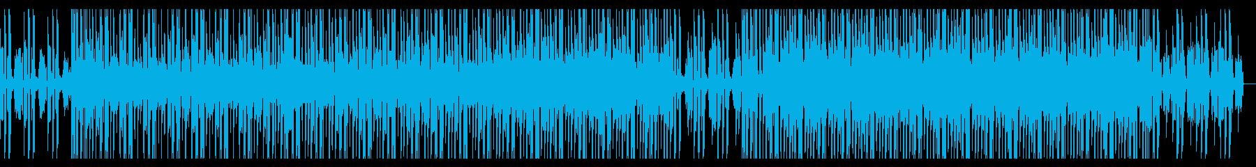 追跡用BGM・探偵がターゲットを尾行中の再生済みの波形