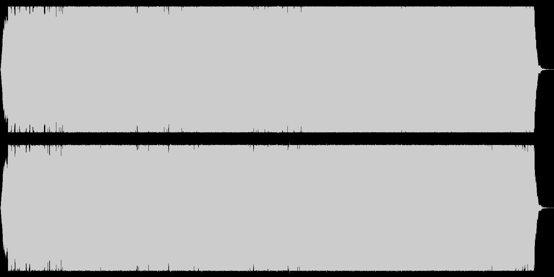 シリアスな戦闘系ロックBGMの未再生の波形