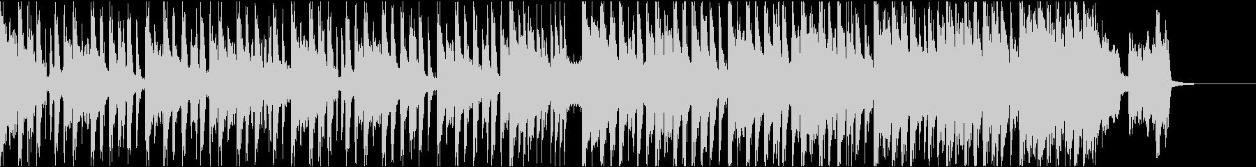 シンプルなベースハウスのジングルの未再生の波形