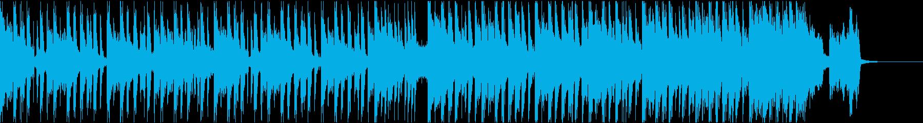 シンプルなベースハウスのジングルの再生済みの波形