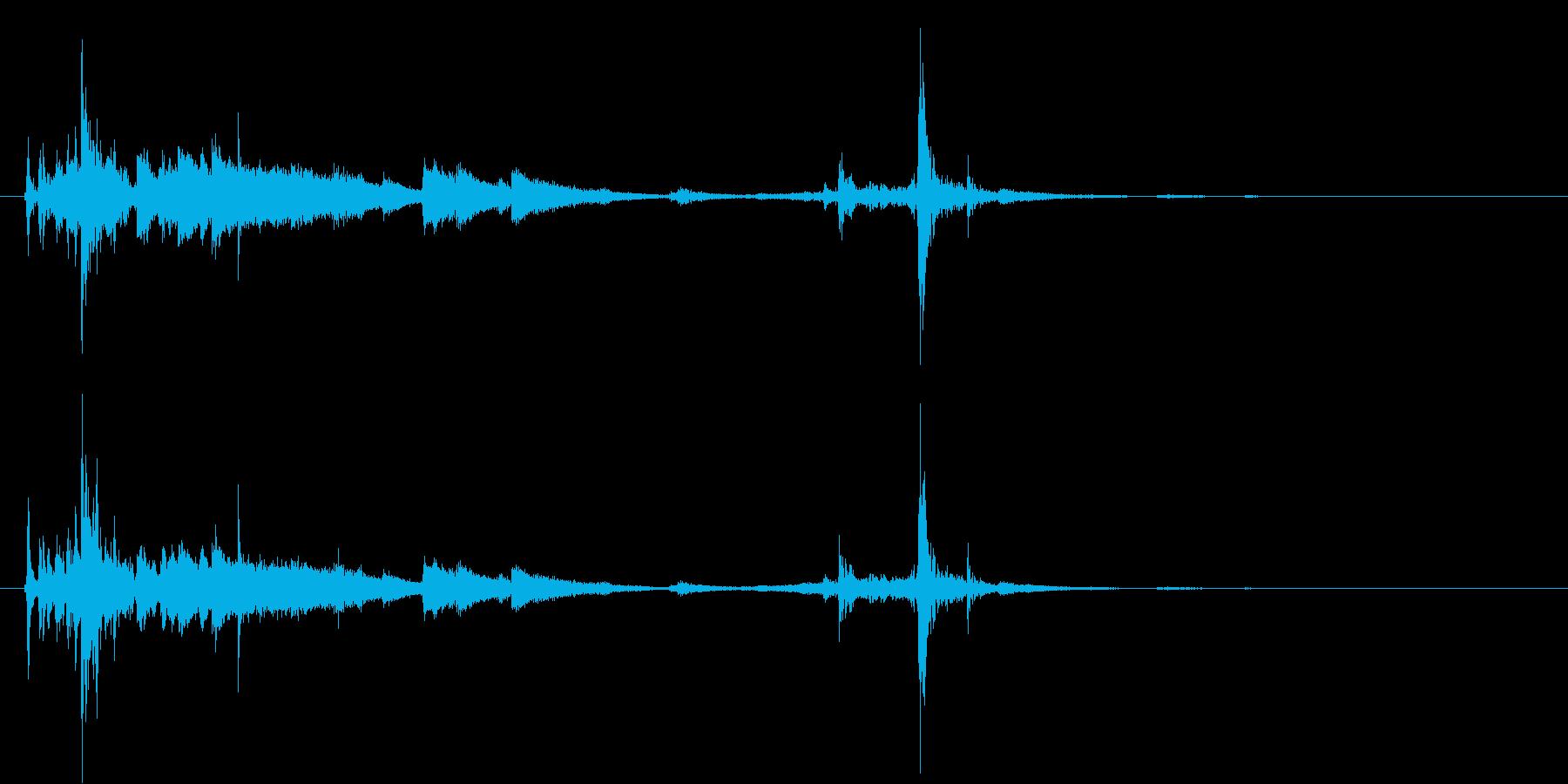 カフェなどに最適なドアベル付きクローズ音の再生済みの波形