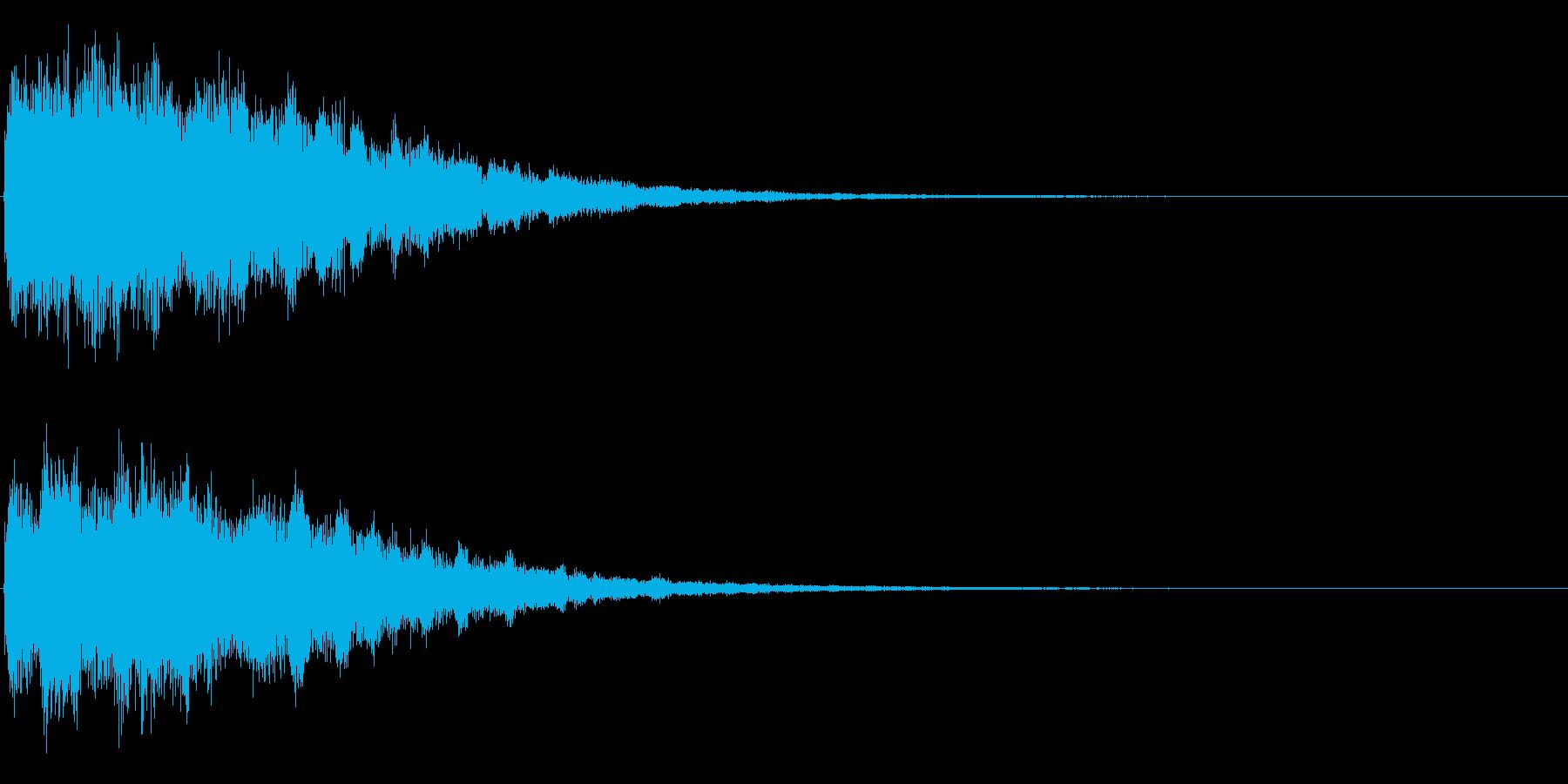 ゲームスタート、決定、ボタン音-122の再生済みの波形