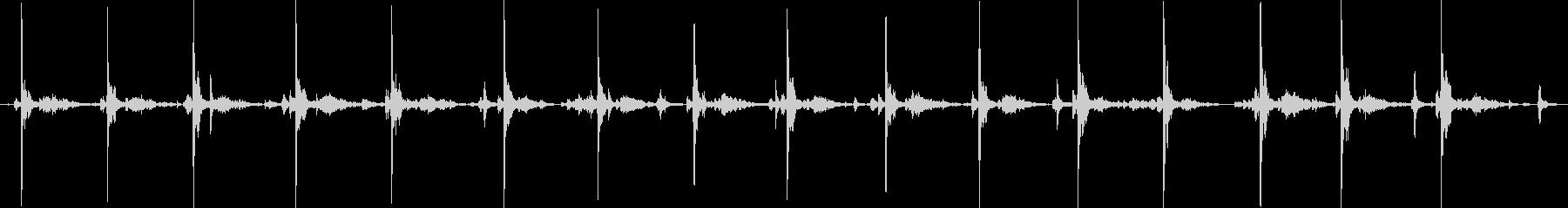 タイプライター16連打の未再生の波形