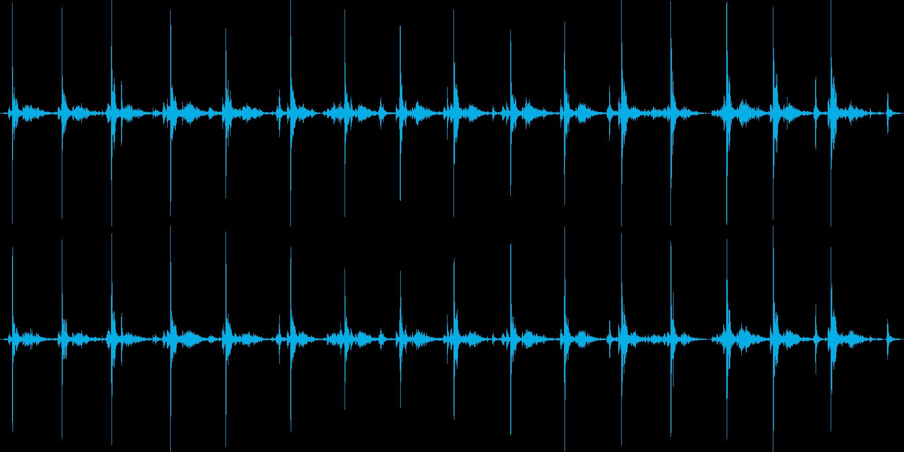 タイプライター16連打の再生済みの波形
