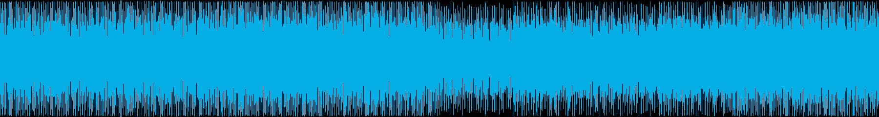 メロディ重視のループできるテクノポップの再生済みの波形