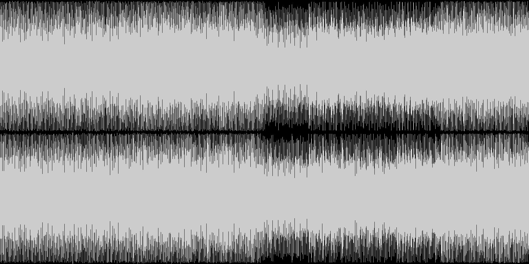 メロディ重視のループできるテクノポップの未再生の波形