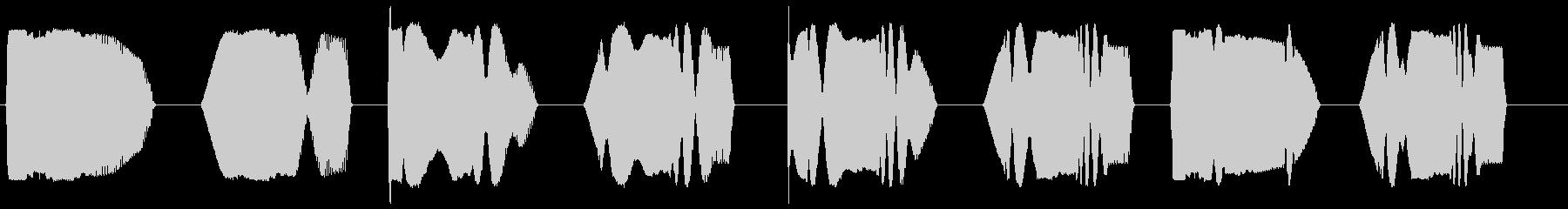 ゲームで得点が増える時の音の未再生の波形