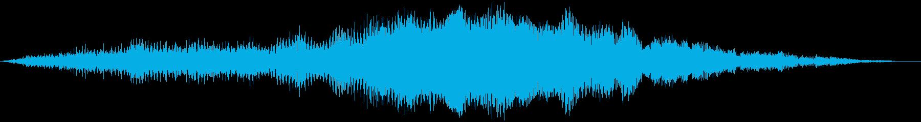 プロペラ機の持ち上がり(滑走路の端)の再生済みの波形