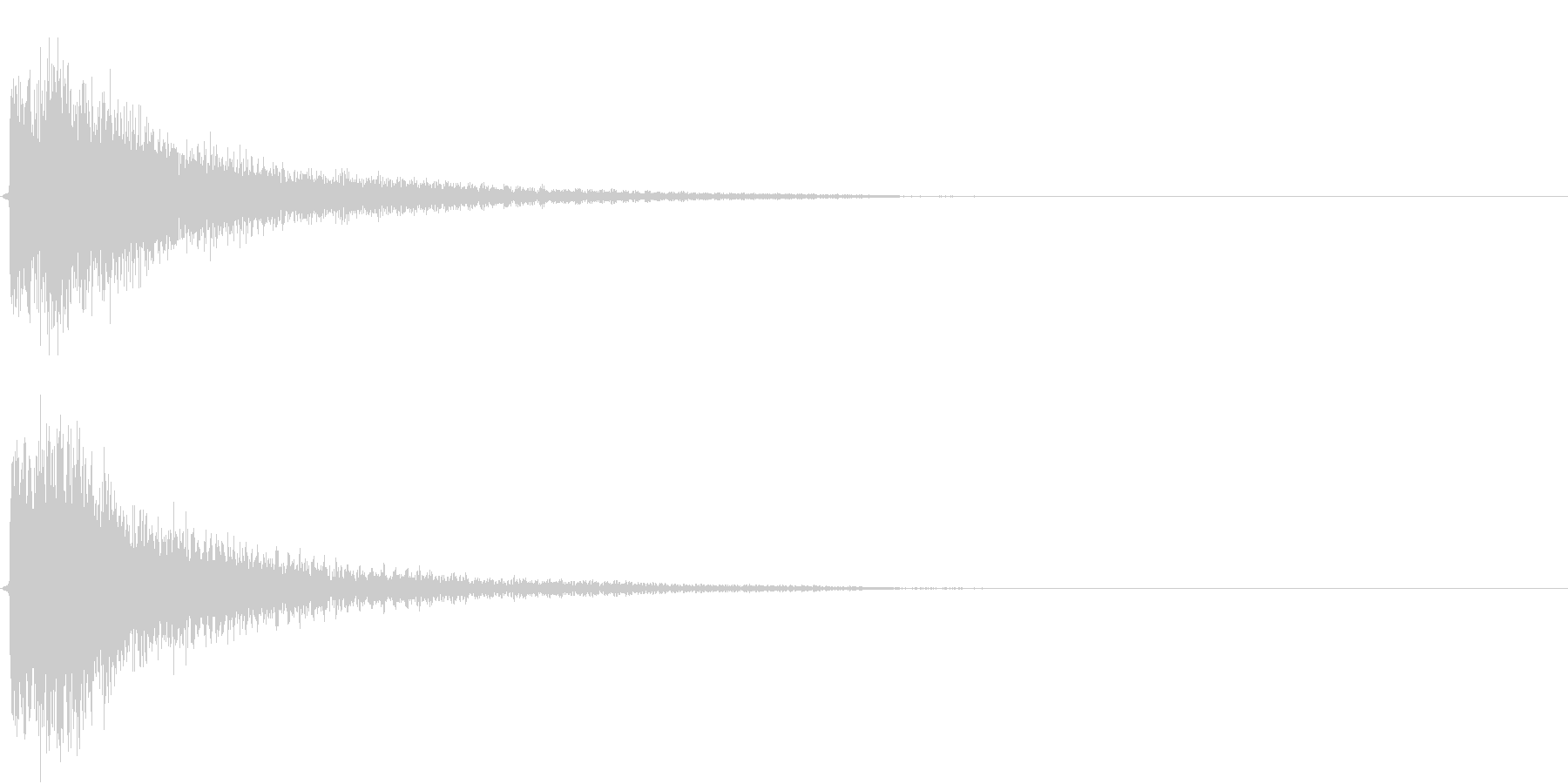 インパクト、衝撃、ヒット音です。『ダダ…の未再生の波形
