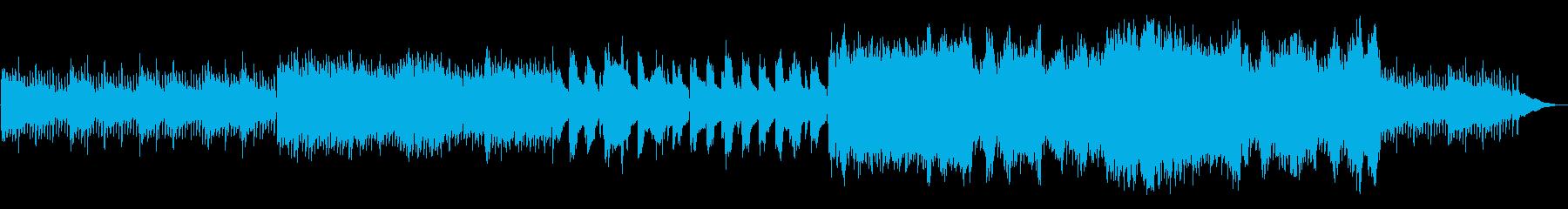 悲しいピアノ・ストリングス曲の再生済みの波形