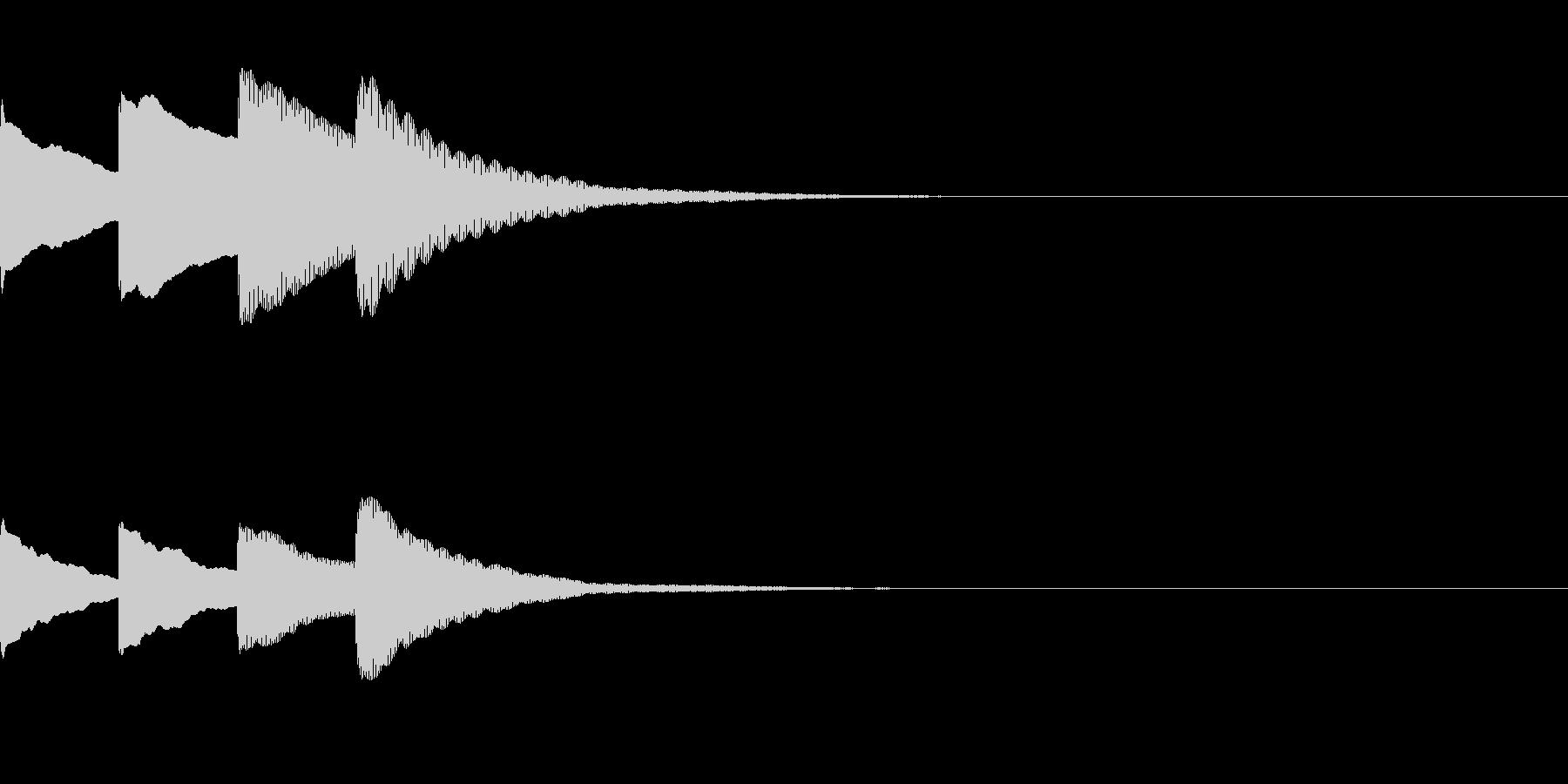 お知らせ・アナウンス音B下降(普通)06の未再生の波形