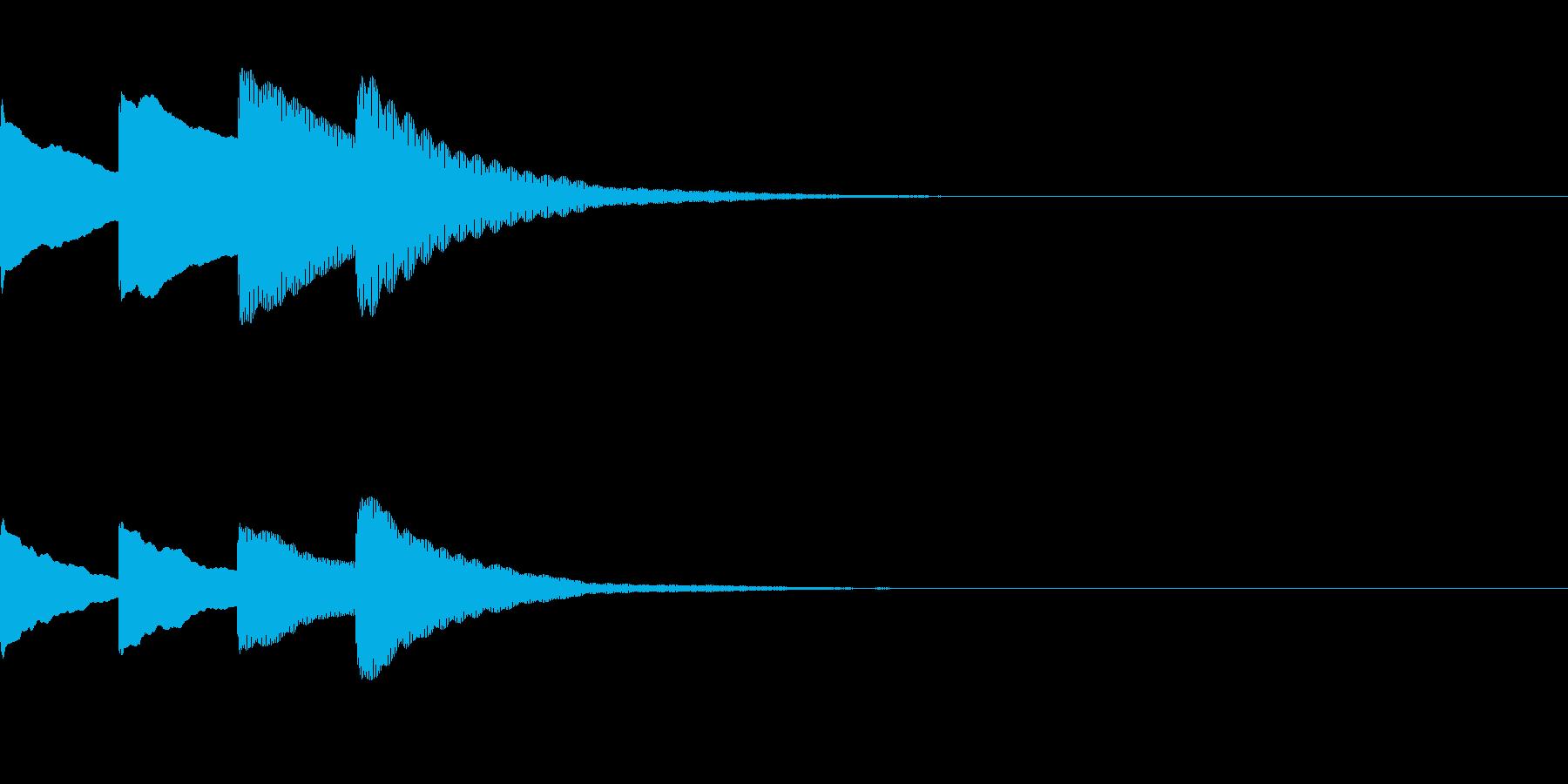 お知らせ・アナウンス音B下降(普通)06の再生済みの波形