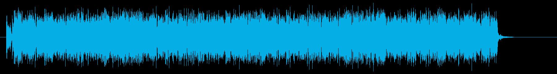 パンクハードで不思議なシンセジングルの再生済みの波形