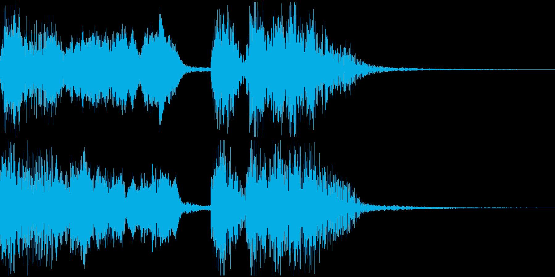 ファンファーレの再生済みの波形