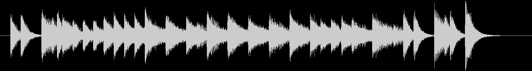 レトロ曲調のワクワクするピアノジングルの未再生の波形