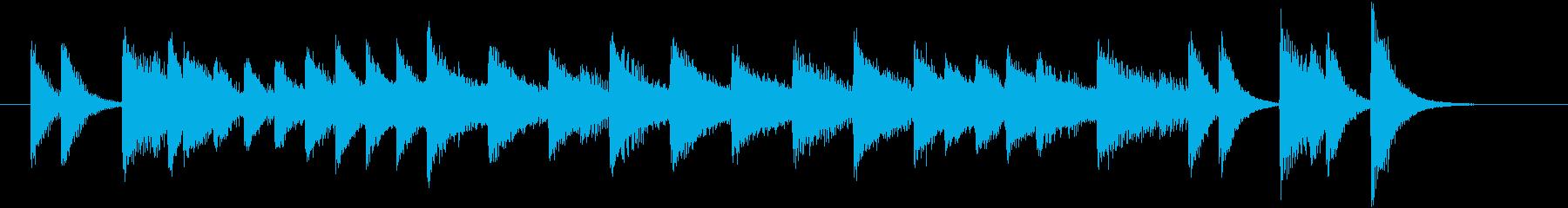 レトロ曲調のワクワクするピアノジングルの再生済みの波形