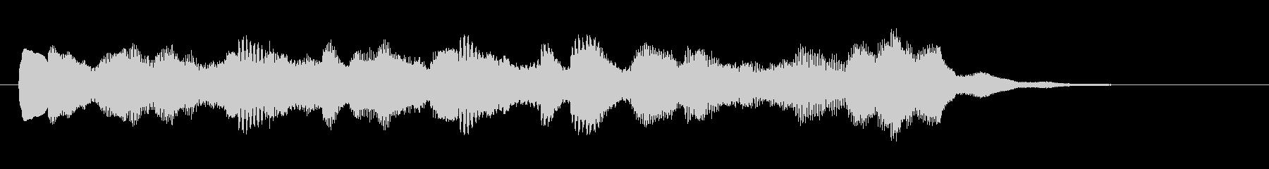 サウンドロゴやゲームに使えるベルの音の未再生の波形