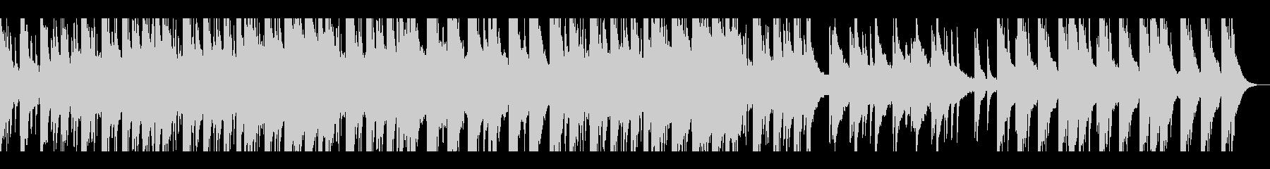 感動的なピアノ音楽の未再生の波形