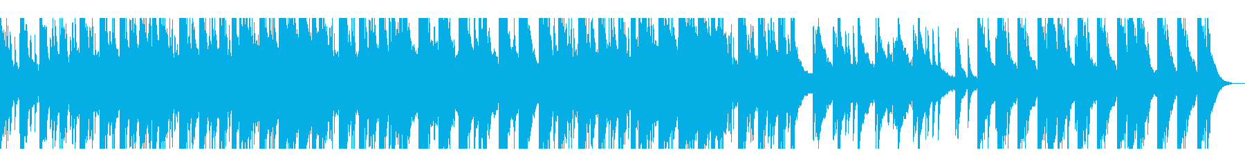 感動的なピアノ音楽の再生済みの波形
