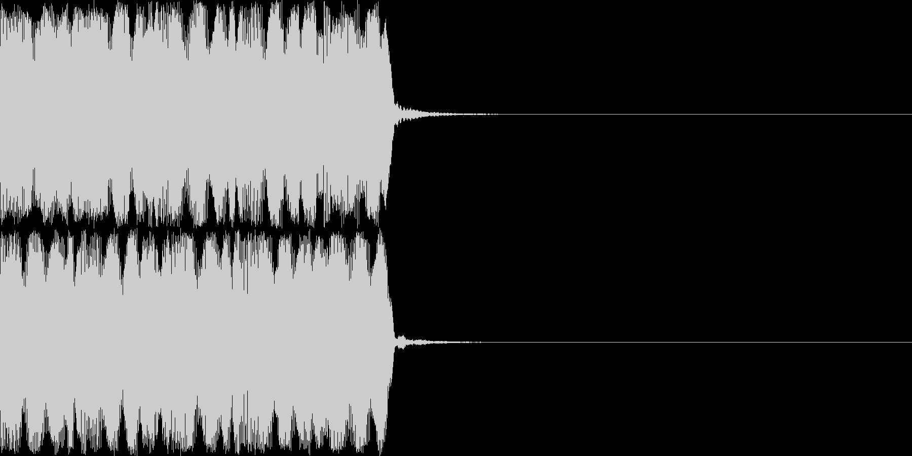 ドューンドューンドューン (避難音)の未再生の波形