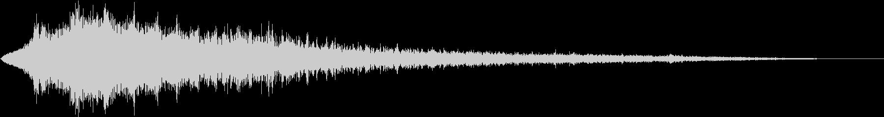 可愛いループ、ワープ、瞬間移動の音の未再生の波形