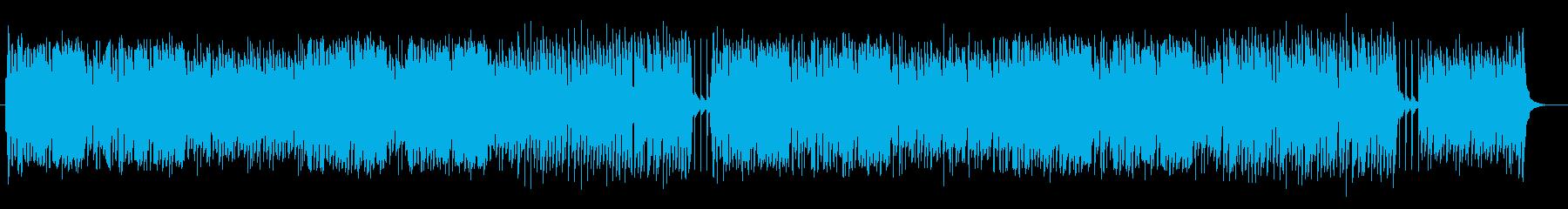 明るく可愛いテンポのいい曲の再生済みの波形
