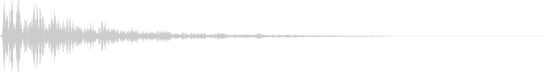 どん:地鳴り・迫力・オープニングホラーfの未再生の波形