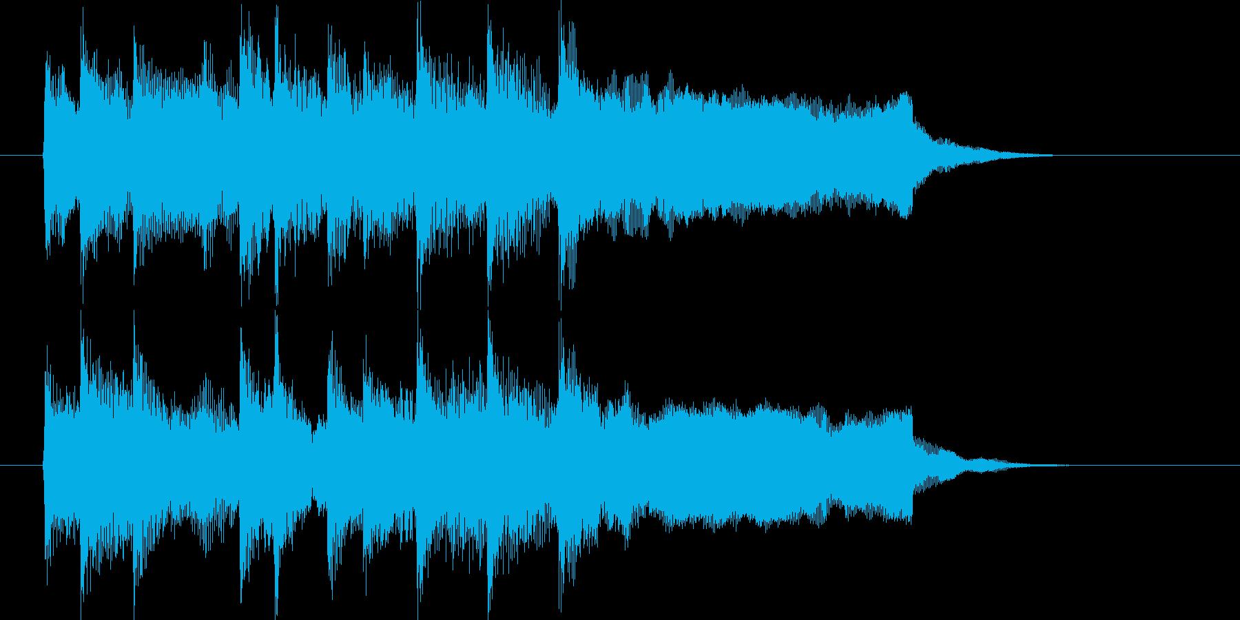 メロディアスで優しいピアノジングルの再生済みの波形