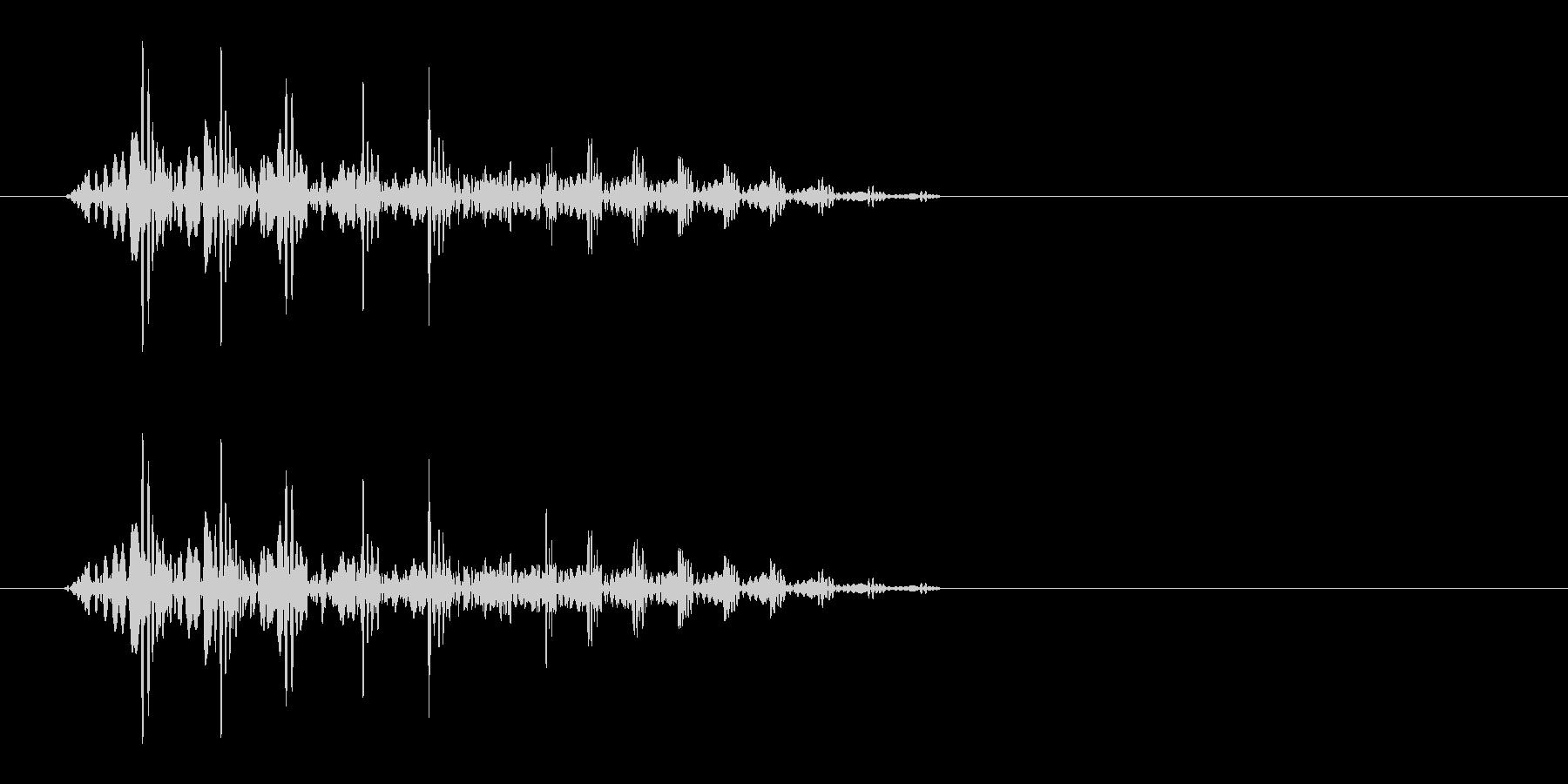 ぶたの鳴き声(ぶひっと鳴く)の未再生の波形