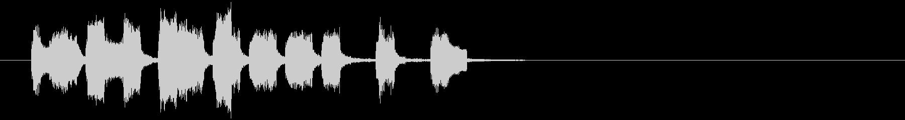 アイキャッチ・場面転換のジングルの未再生の波形