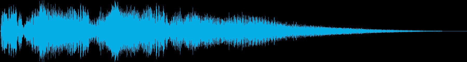 バイク オートバイの迫力あるアクセル音6の再生済みの波形