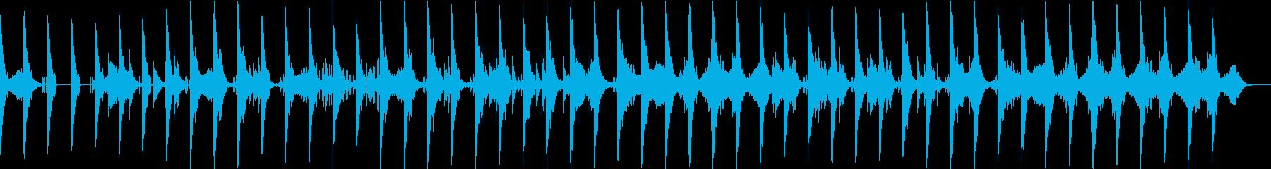 ベースがダンディ系なBGMの再生済みの波形