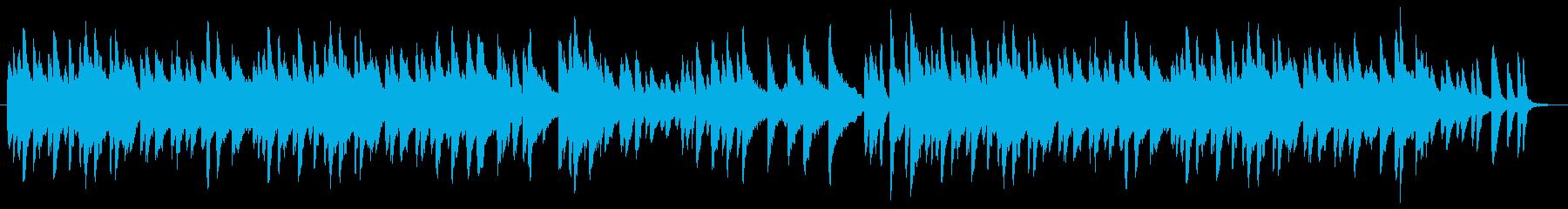 カワイイじゃれあいイメージのピアノ曲の再生済みの波形
