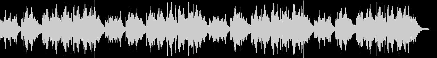 豊かな和音のうららかな秋のピアノBGMの未再生の波形