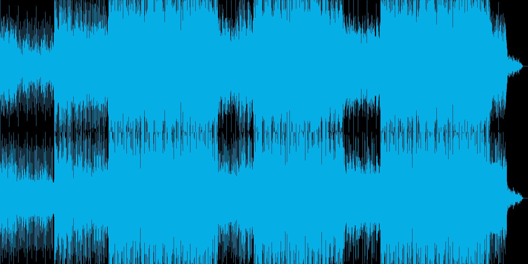 イタリアンポップの背景。の再生済みの波形