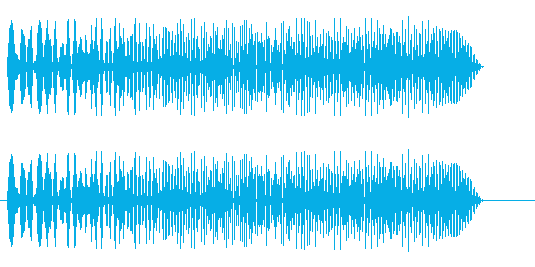 ビュイーン(ワープや移動の機械の効果音)の再生済みの波形