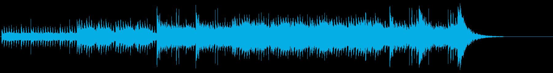 無機質で緊張感のあるテクノ風の再生済みの波形