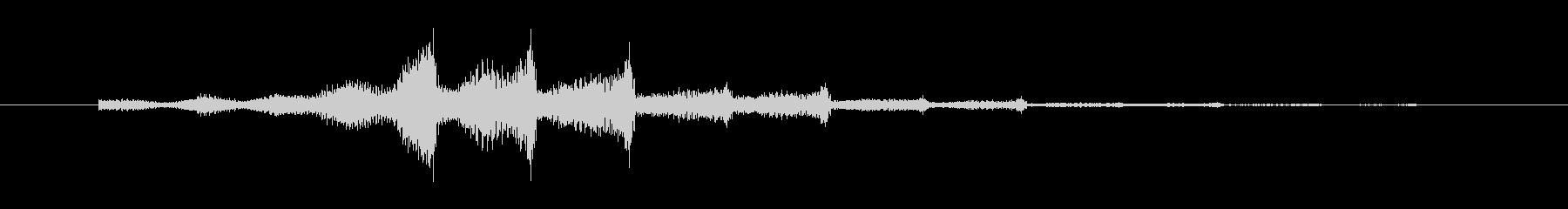 シュワンシュワン インパクト音の未再生の波形