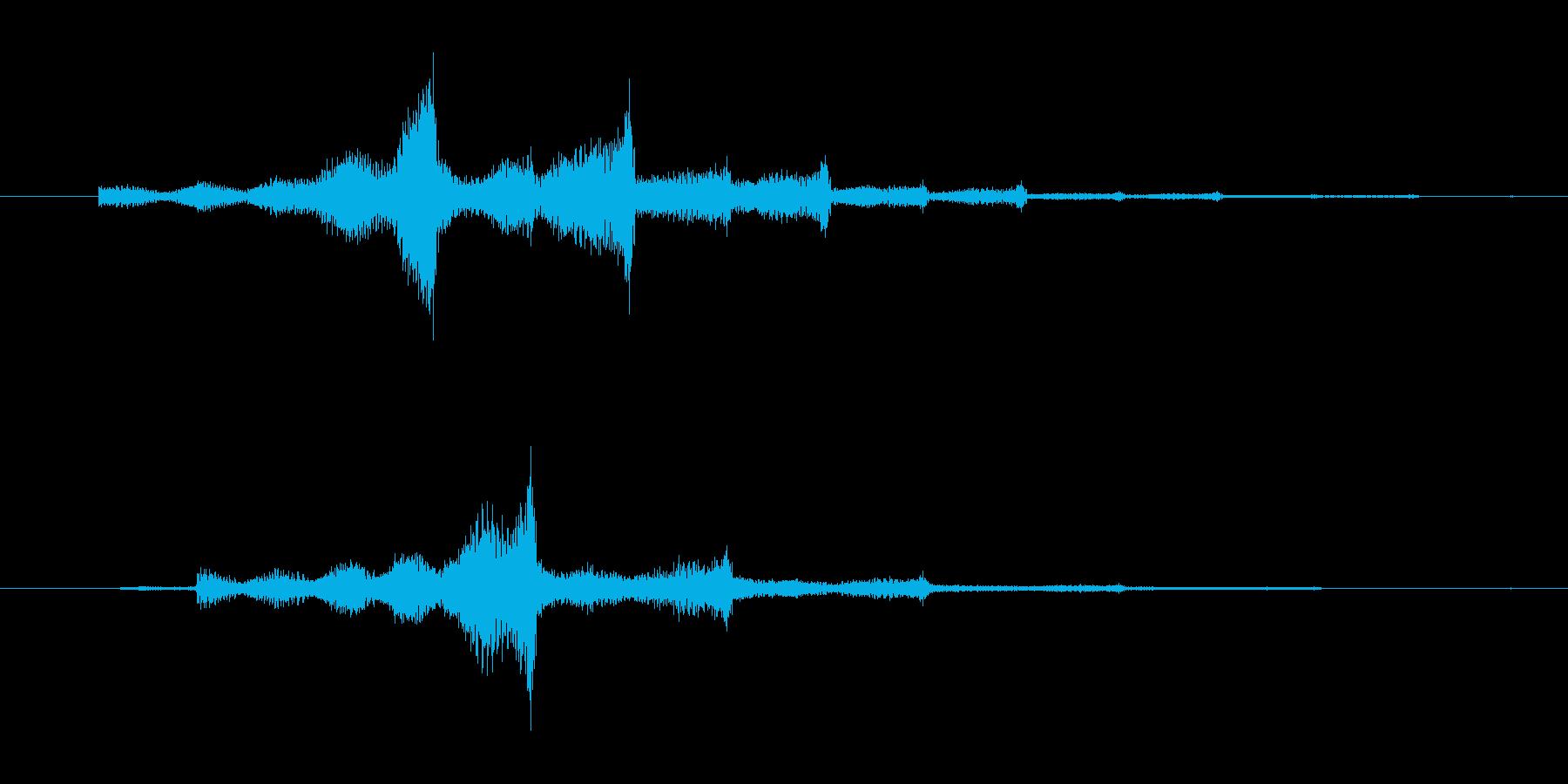シュワンシュワン インパクト音の再生済みの波形