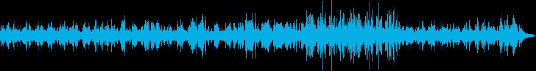 暗いジャズ風のソロピアノの再生済みの波形