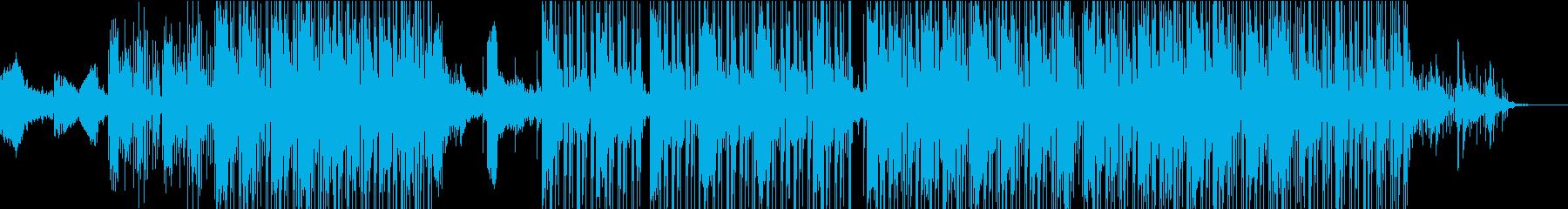 深みのある冷たさのあるジャズトラックの再生済みの波形