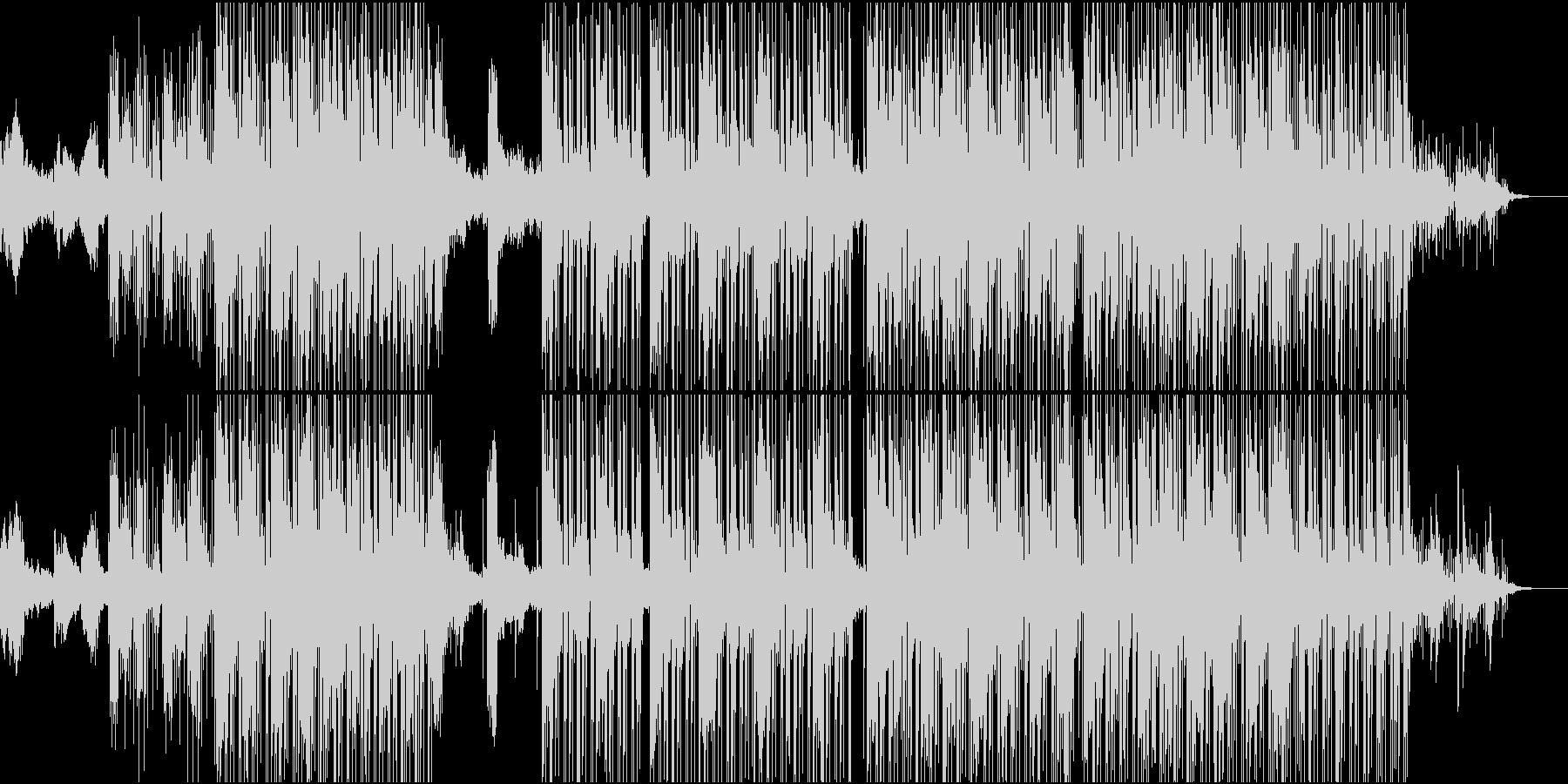 深みのある冷たさのあるジャズトラックの未再生の波形