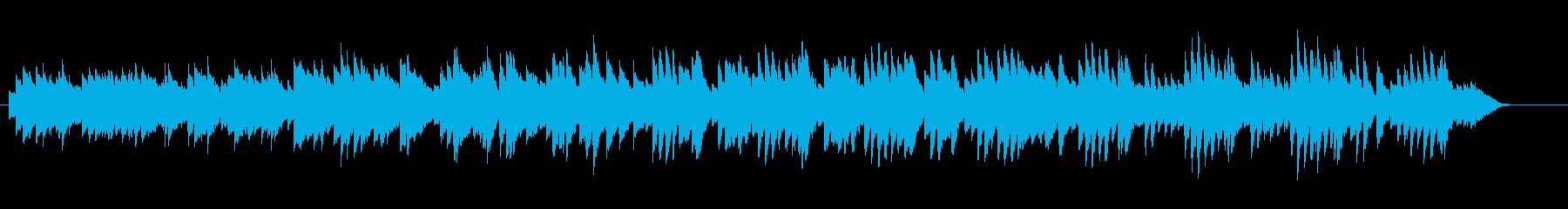素朴で懐かしい雰囲気のピアノ曲の再生済みの波形