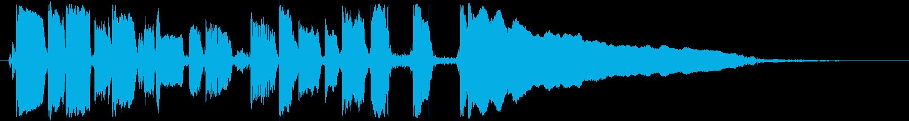 ギターフレーズ009の再生済みの波形