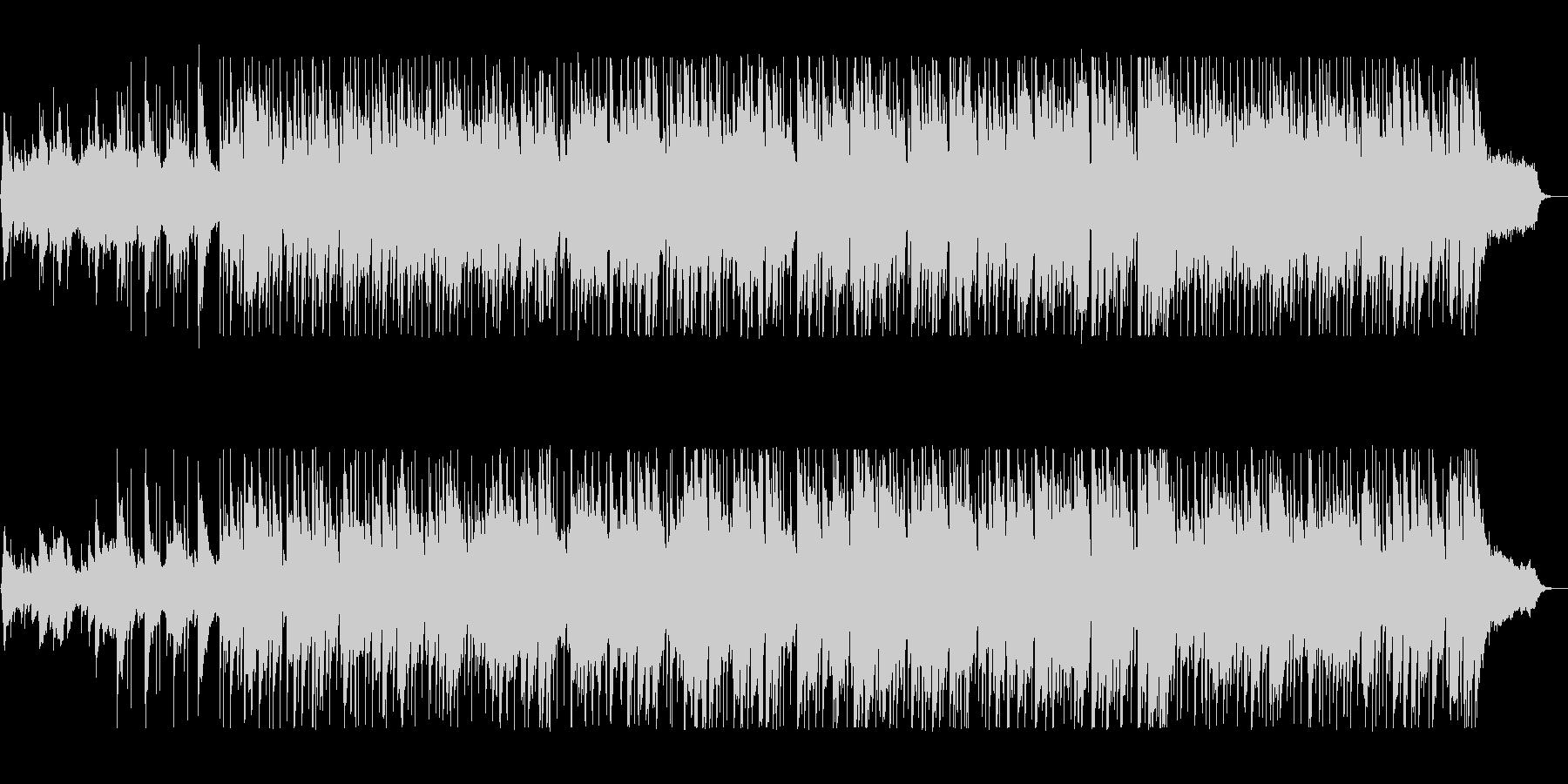 穏やかなテンポのポップスの未再生の波形