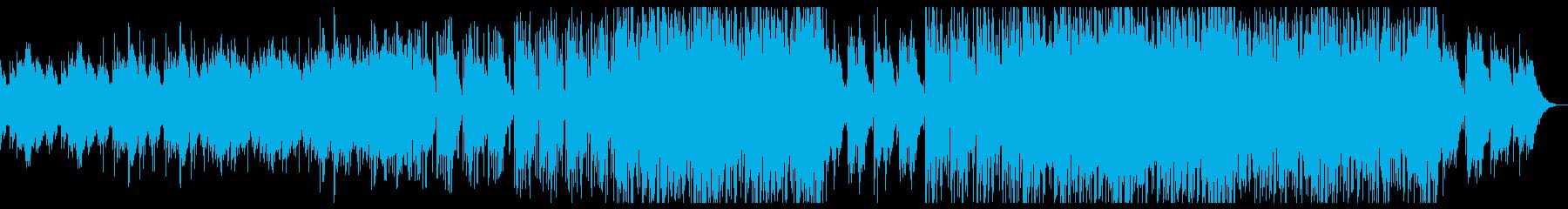 アジアンテイストのレトロテクノBGMの再生済みの波形