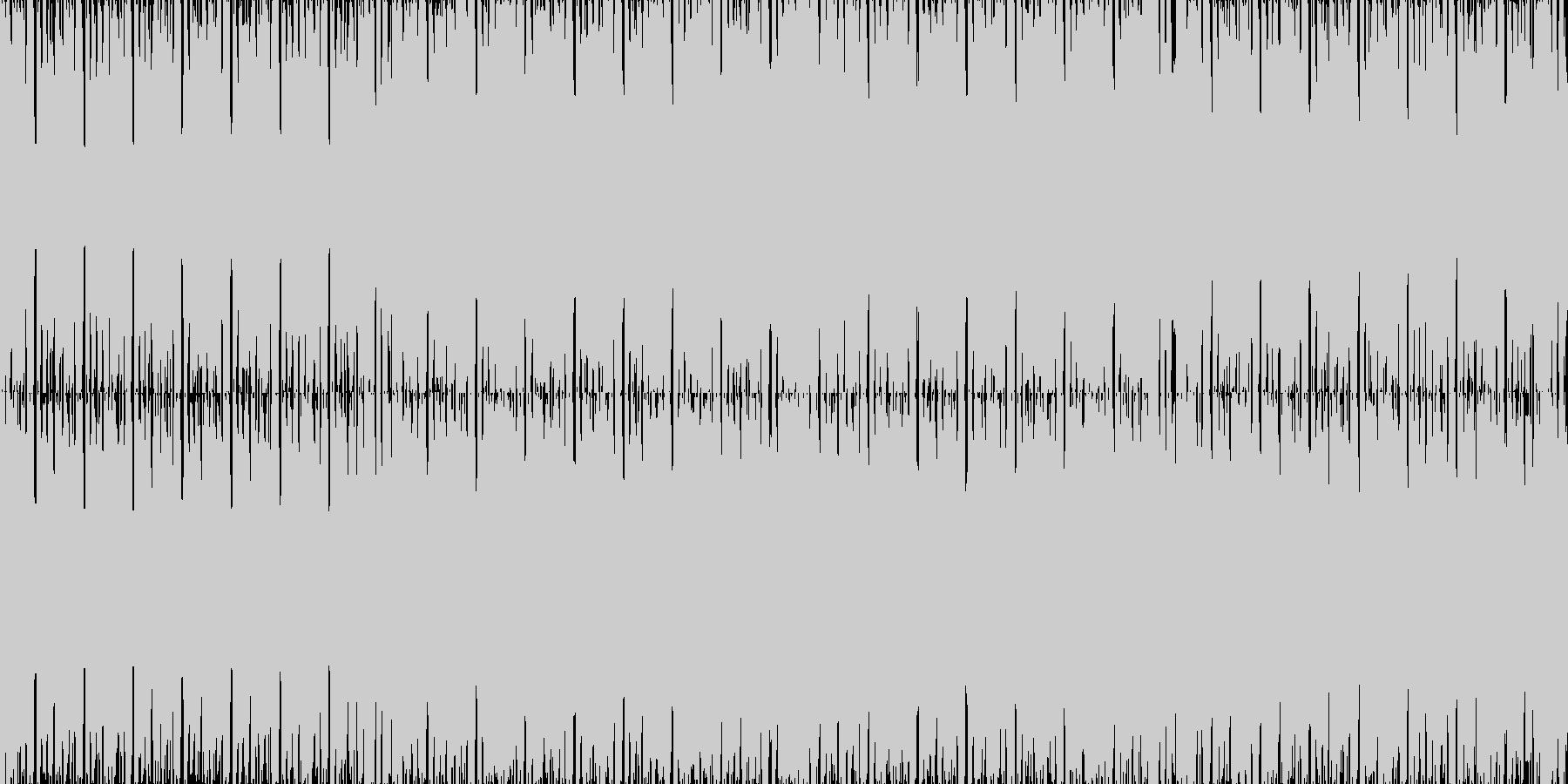 お洒落なEDMループBGMの未再生の波形