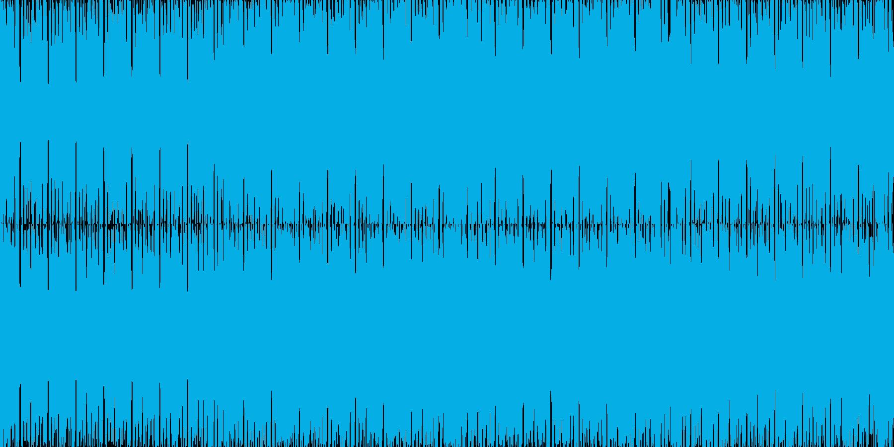 お洒落なEDMループBGMの再生済みの波形